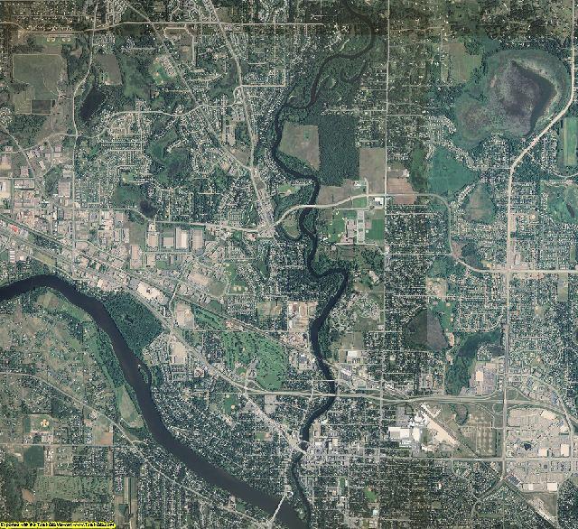 Anoka County, Minnesota aerial photography