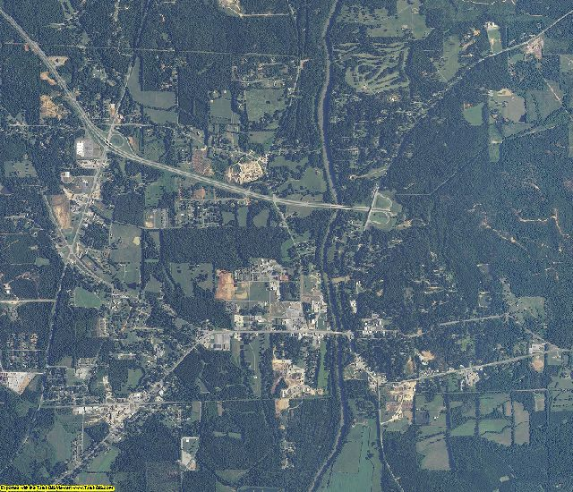 Bibb County, Alabama aerial photography