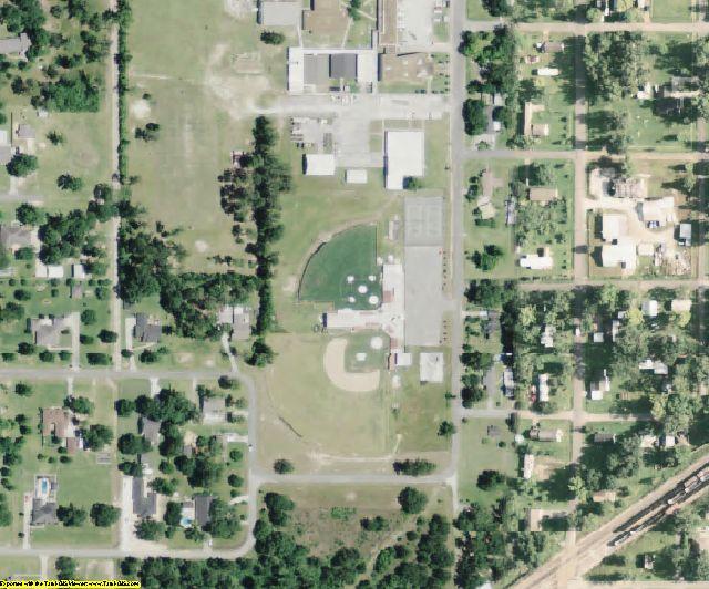 Calcasieu County, LA aerial photography detail