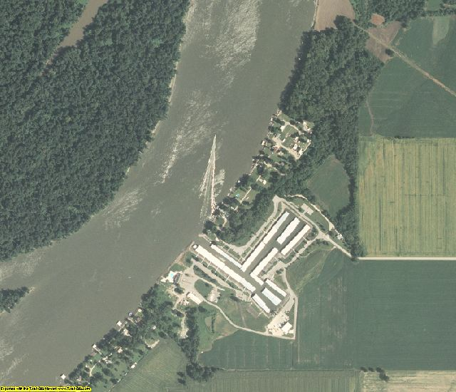 Calhoun County, IL aerial photography detail