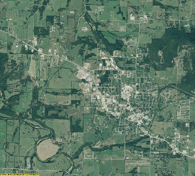 Carroll County, Arkansas aerial photography
