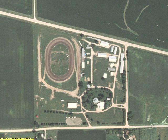 Cedar County, IA aerial photography detail