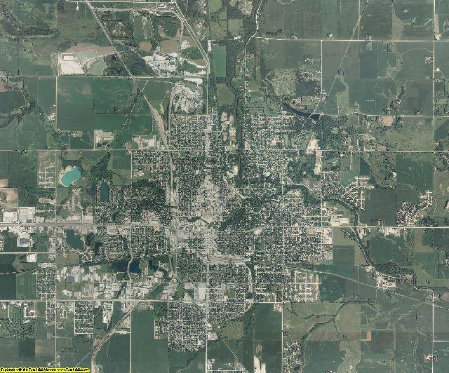Cerro Gordo County, Iowa aerial photography