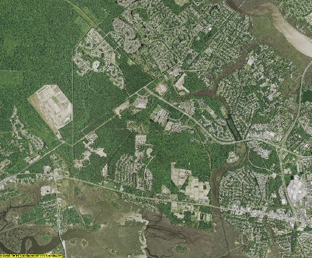 Charleston County, South Carolina aerial photography