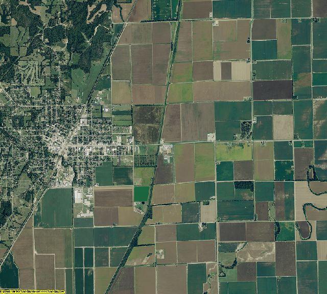 Clay County, Arkansas aerial photography