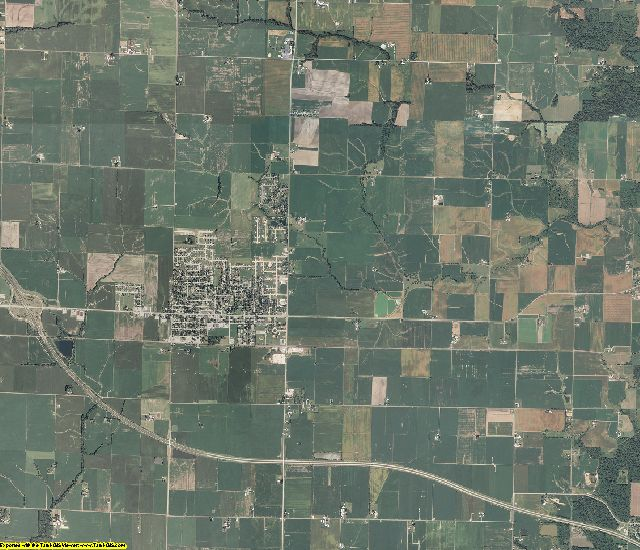 Clinton County, Illinois aerial photography