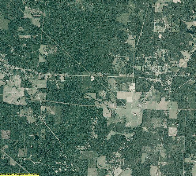 Columbia County, Arkansas aerial photography