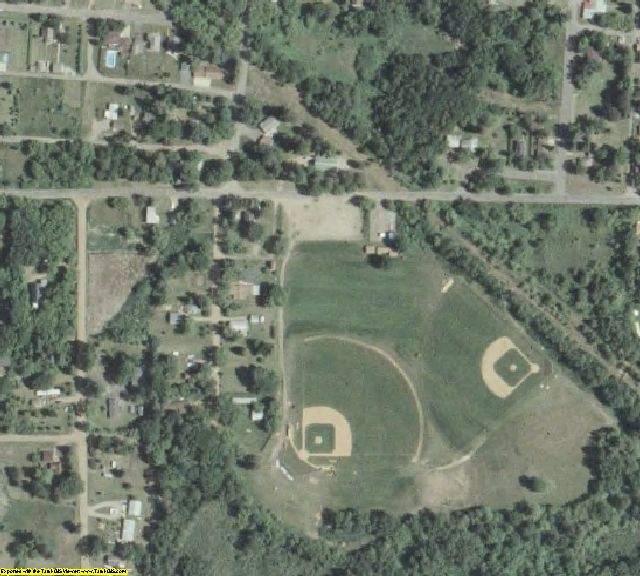 Crow Wing County, MN aerial photography detail