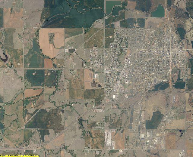 Custer County, Oklahoma aerial photography