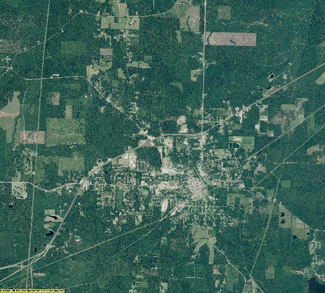 Dallas County, Arkansas aerial photography