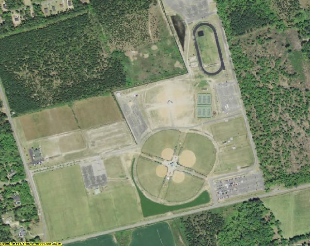 Darlington County, SC aerial photography detail