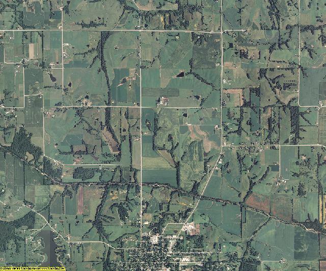 Davis County, Iowa aerial photography