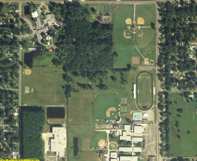 Duval County, FL aerial photography detail