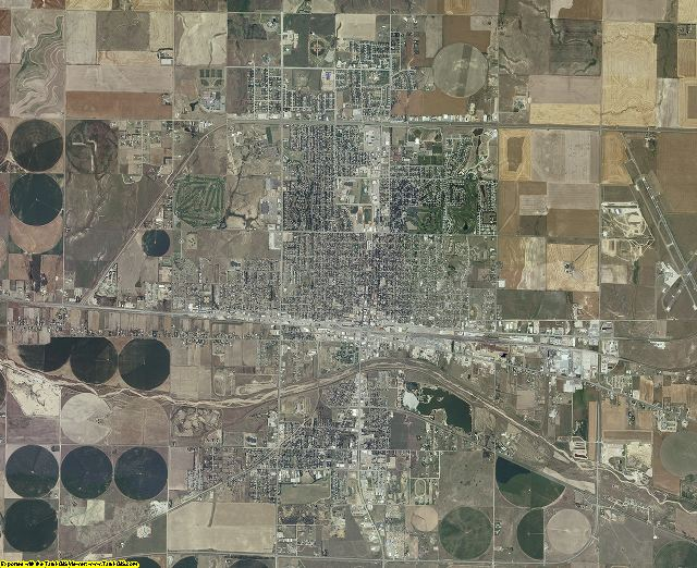 Ford County, Kansas aerial photography