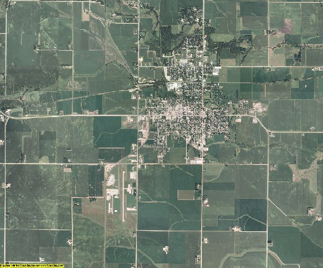 Franklin County, Iowa aerial photography