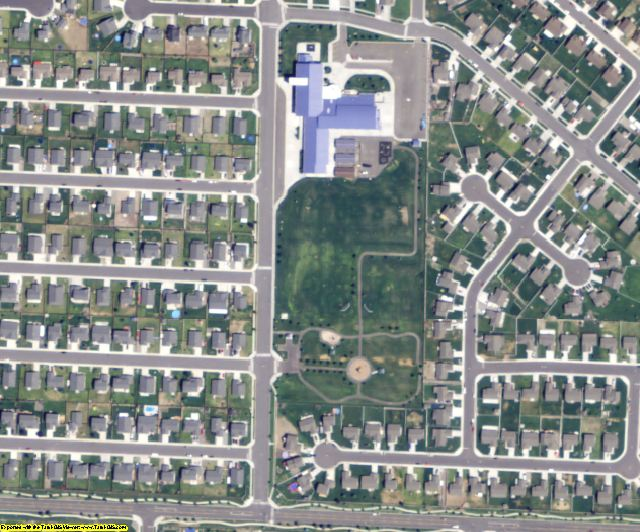 Franklin County, WA aerial photography detail