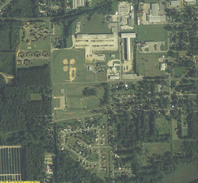 Gadsden County, FL aerial photography detail