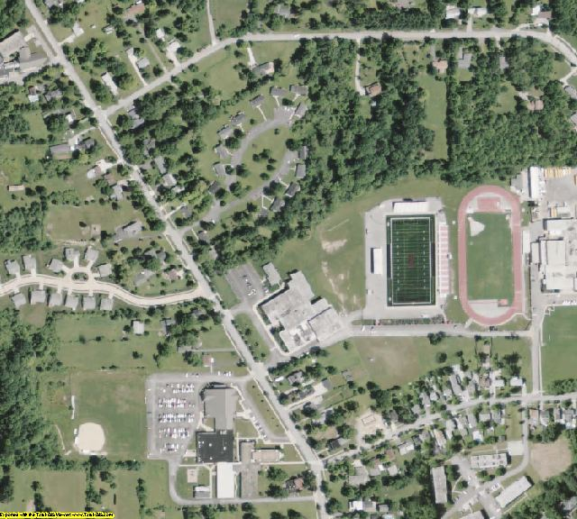 Geauga County, OH aerial photography detail