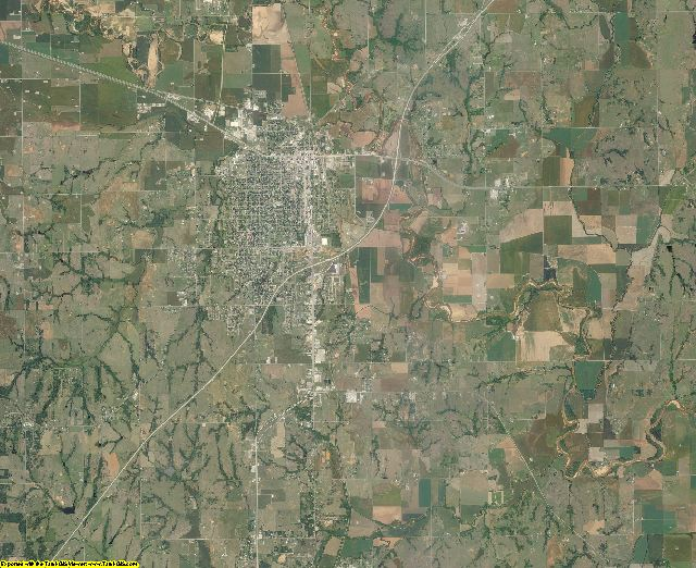 Grady County, Oklahoma aerial photography