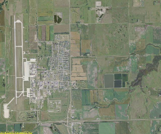 Grand Forks County, North Dakota aerial photography