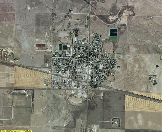 Greeley County, Kansas aerial photography
