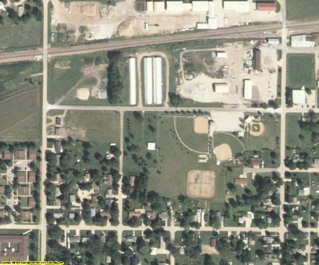Greene County, IA aerial photography detail