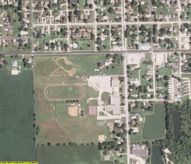 Henry County, IL aerial photography detail