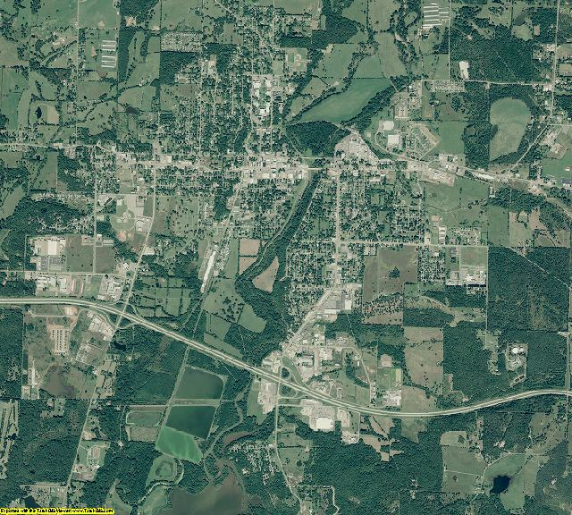 Johnson County, Arkansas aerial photography