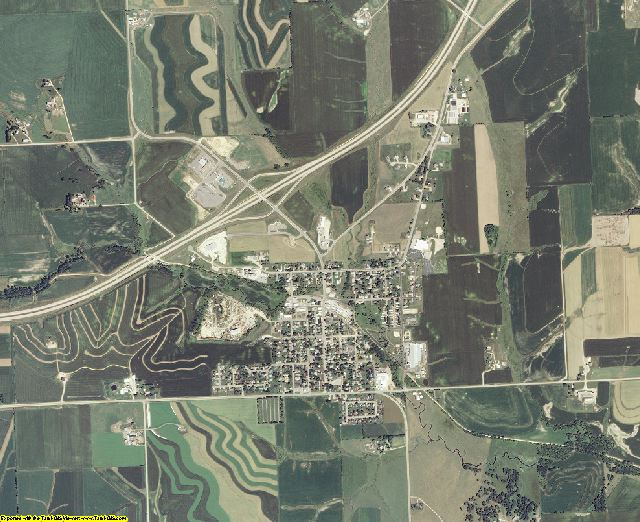 Lafayette County, Wisconsin aerial photography