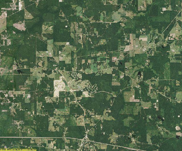 Lincoln County, Louisiana aerial photography