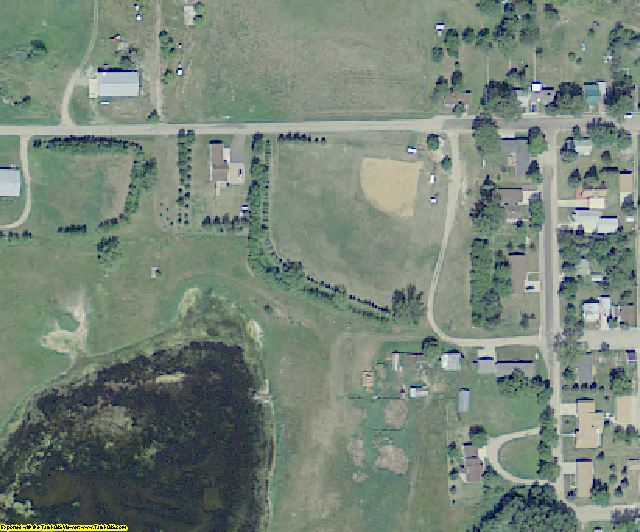 Logan County, ND aerial photography detail