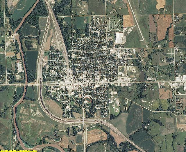 Marshall County, Kansas aerial photography