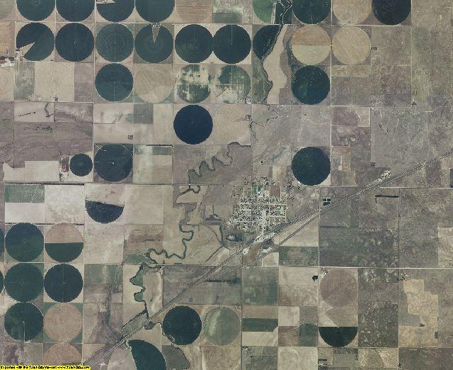 Meade County, Kansas aerial photography