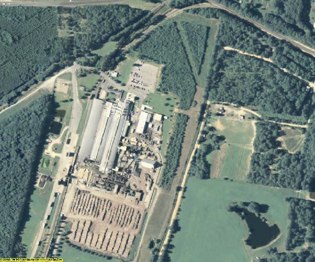 Meriwether County, GA aerial photography detail