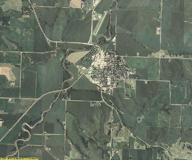 Monona County, Iowa aerial photography