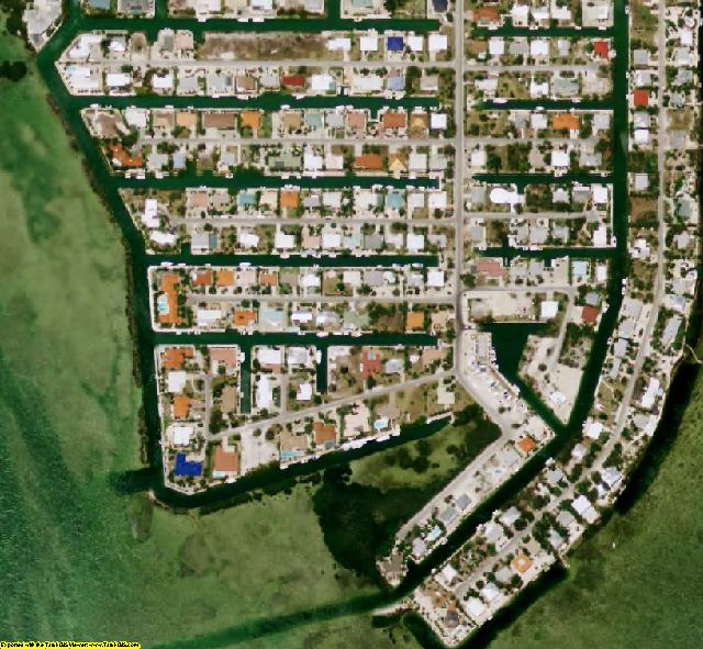 Monroe County, FL aerial photography detail