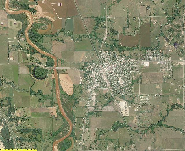 Murray County, Oklahoma aerial photography