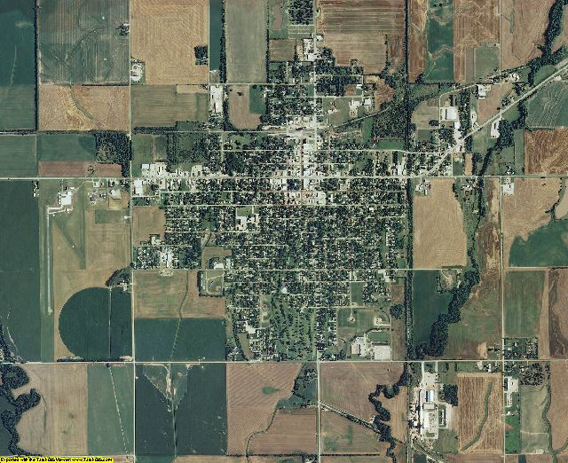 Rice County, Kansas aerial photography