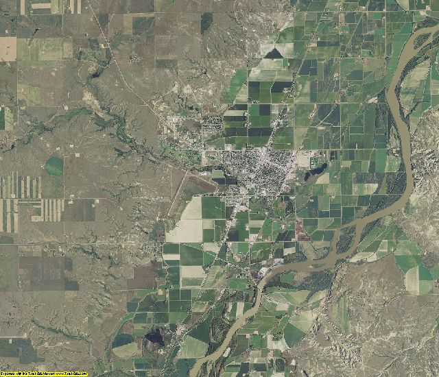 Richland County, Montana aerial photography