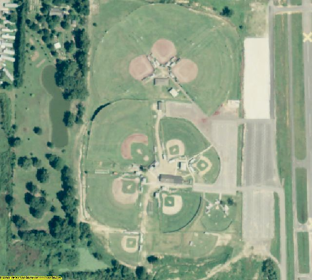 Saline County, AR aerial photography detail