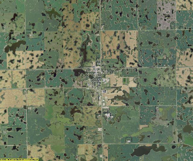 Sargent County, North Dakota aerial photography