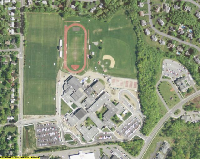 Schenectady County, NY aerial photography detail