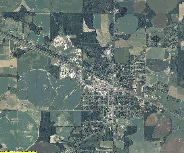 Seminole County, Georgia aerial photography