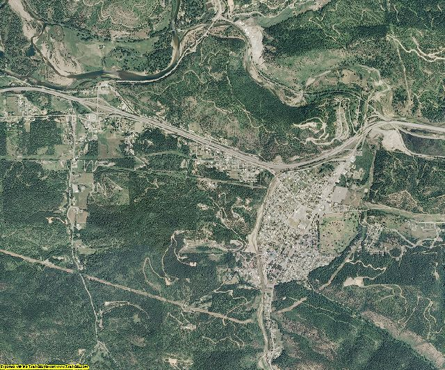 Shoshone County, Idaho aerial photography