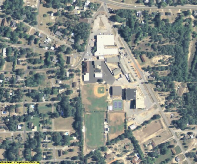 Taylor County, GA aerial photography detail