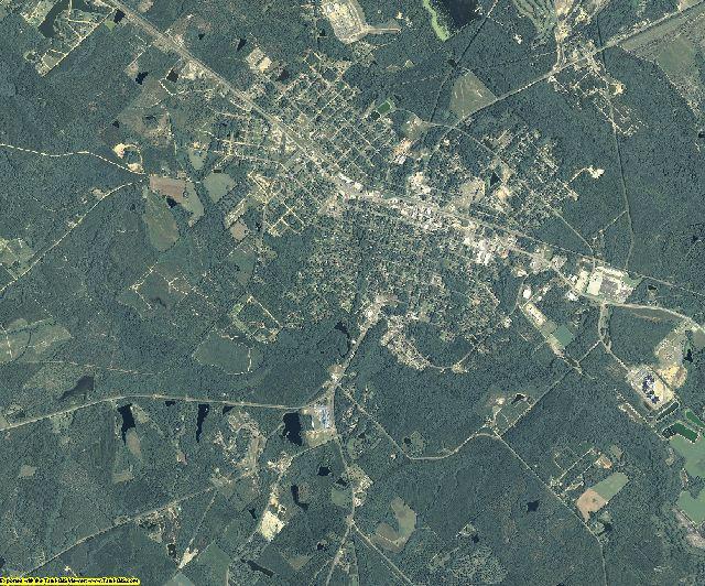 Telfair County, Georgia aerial photography