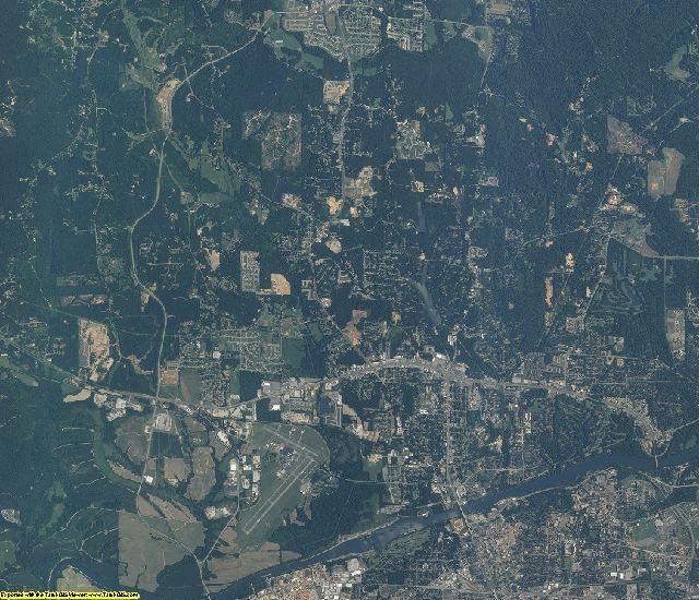Tuscaloosa County, Alabama aerial photography