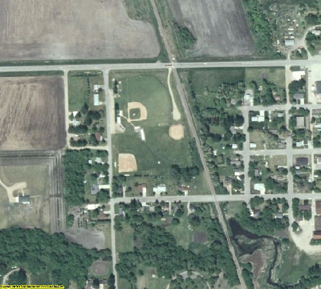 Wilkin County, MN aerial photography detail
