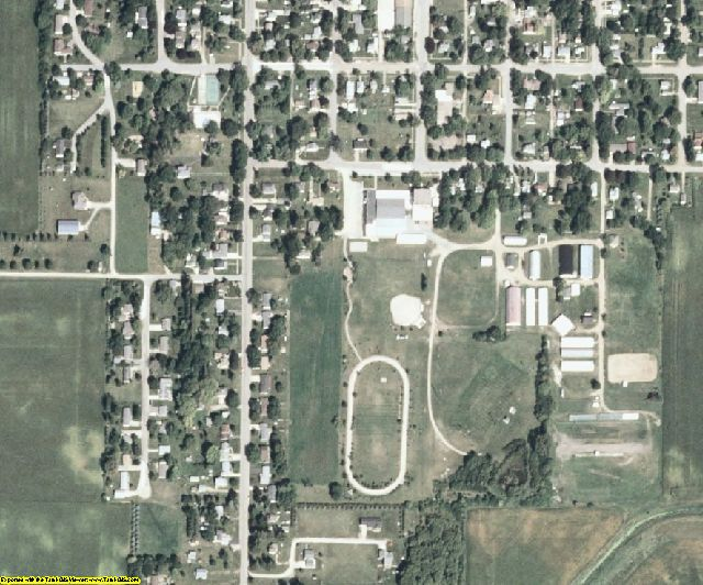 Winnebago County, IA aerial photography detail