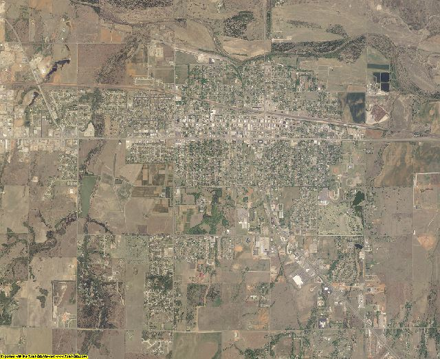 Woodward County, Oklahoma aerial photography